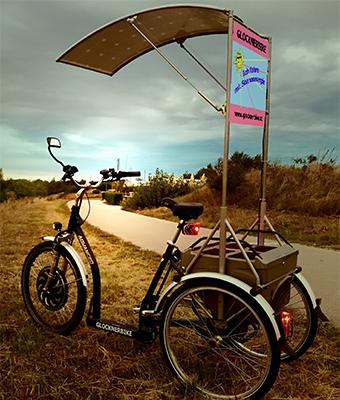 Elektrofahrrad mit Erfahrung - Dreirad schwarz elektrisch solar